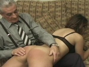 Milf ass spanked and caned by old man