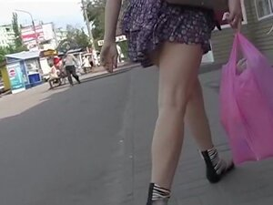 Incredibly arousing street upskirt footage, Holy