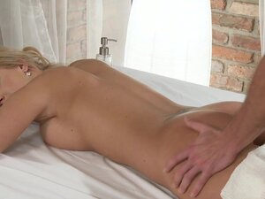 Massage Rooms Tanned shaved busty young blonde