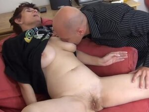 European granny Vlasta in an FFM sex