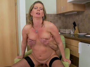 Horny mature blonde honey Laura Long enjoys in her