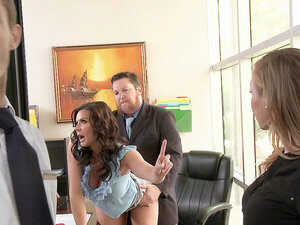 Two bosses Kendra Lust and Phoenix Marie sucking