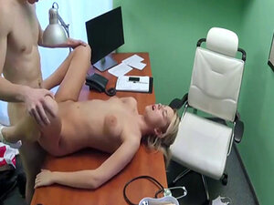 Blonde doctor Nikky Dream having rough sex with