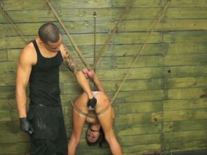 Tied up with Rope in his Sex Basement