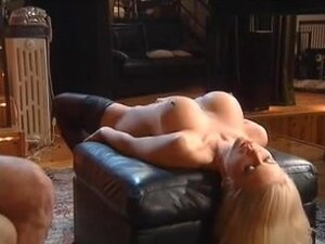 Perfect blonde banged during bukkake orgy,