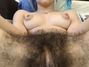 Hot Hairy Pussy With Big Nipples On Webcam