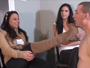 Slave humiliated by sexy mistress with boots