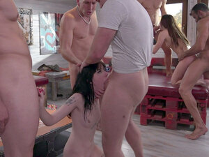 Cassie Fire and Charlotte Sartre in gangbang