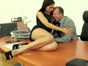Outstanding office pussy drilling with his bimbo