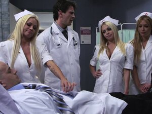 Lovely nurse in uniform gets fucked hardcore while