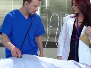 Doctor Monique Alexander strips and gets her tight