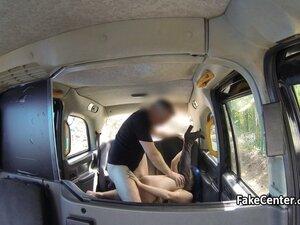 Slut facialized on backseat of taxi