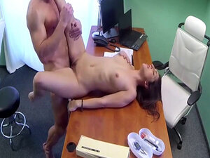 Fake doctor with big dick fucking hot patient in