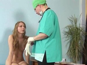 Gyno examination for shy blonde