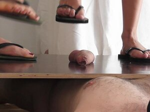 Cock and Ball Trampling by 2 cruel Mistresses in