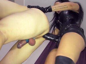 Leather Strapon Mistress Leather FemDom Anal