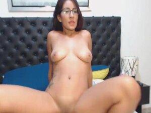 Hot Nerdy Babe Rides Her Horny Boyfriend Cock, Hot