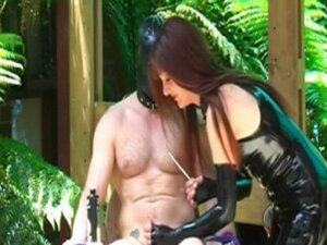 Mistress + bound slave + sounds = CBT and fun