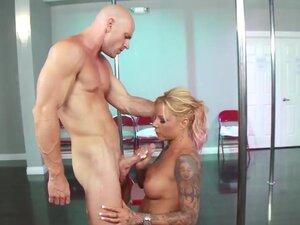 Big tittied tattooed blonde milf Britney Shannon
