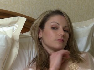 Seductress in a satin robe has lesbian sex with
