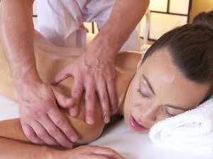 Massage Rooms Hot French babe Tiffany rides big