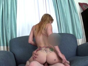 Tattooed sexaudition babe fucking a midget pov