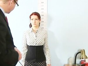 Humiliating, totally nude job interview for shy