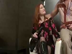 Russian mistress pulles out strapon