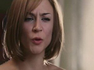 Cute Samaire Armstrong Has Trouble Putting On Her