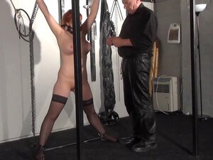 Swedish submissive Vicky Valkyrie tied up and