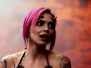 Inked punk babe anally fucked in pov