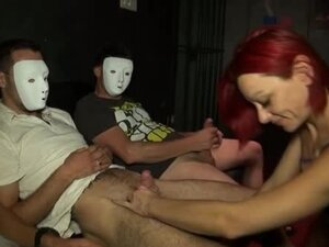 Dulce a redhead gangbanged in a libertines club