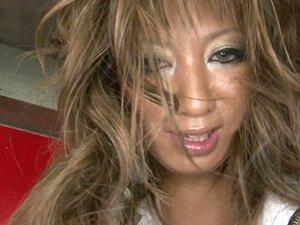 Shameless ugly jap slut gets her dirty asshole