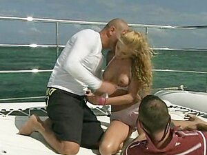 Group sex on the boat with hot blonde