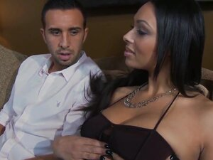 Black haired exotic beauty Bethany Benz with big