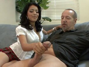 Her hairy snatch is rammed just in the way she