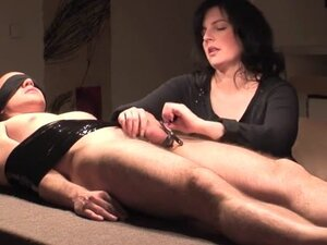 bondage milking with cock harness