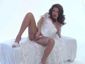 Ecstasy in a white corset