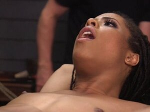 Small tits ebony banged in bdsm