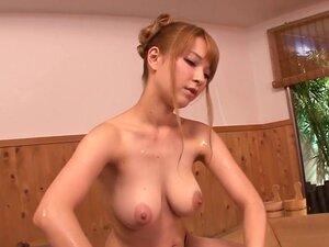 Nippon busty model plowed by big black cock,