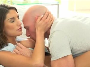 Big tits babe August Ames erotic fucking, Huge