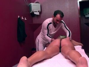 French girl who is oiled up is anal banged like a