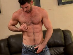 Gay solo mature toys ass and tugs cock