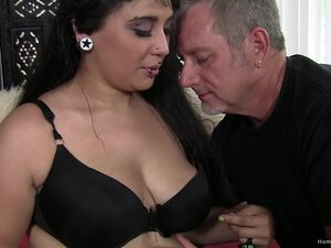 Older guy with a long cock drills deep in juicy