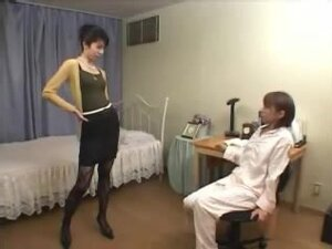 Hairy Japanese babes in hot lez action with a