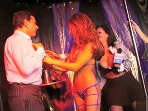 Depraved group porn in a strip bar,