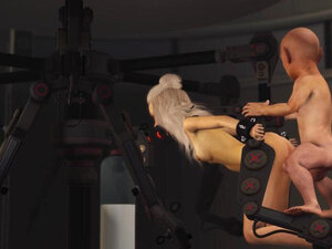 3DXPASSION - Ball gagged young blonde in