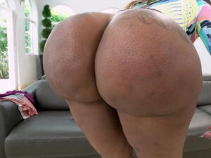 BANGBROS - Inked black booty babe doggystyled on