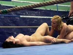 Chicks Fight Naked In A Ring & Do A Little More