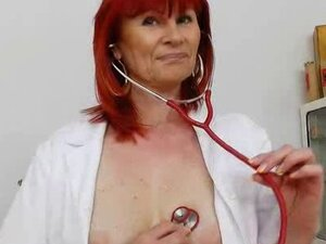 Good-looking redhead matured nurses solo